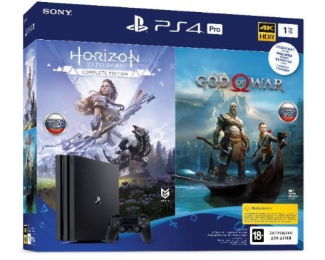 Замовити SONY PlayStation 4 Pro 1TB (God of War & Horizon Zero Dawn CE) - фото 1